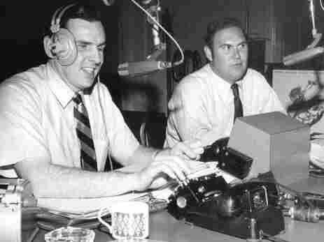 """From 1952 to 1974, the """"Joy Boys"""" — Walker (left) and Willard Scott — provided D.C. radio listeners with a daily dose of comedy."""