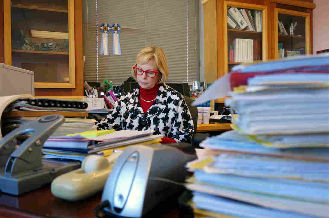 Marilyn Moores, a juvenile court judge in Indianapolis, says many case managers and court employees are feeling overwhelmed with the rising number of child welfare cases they're seeing.