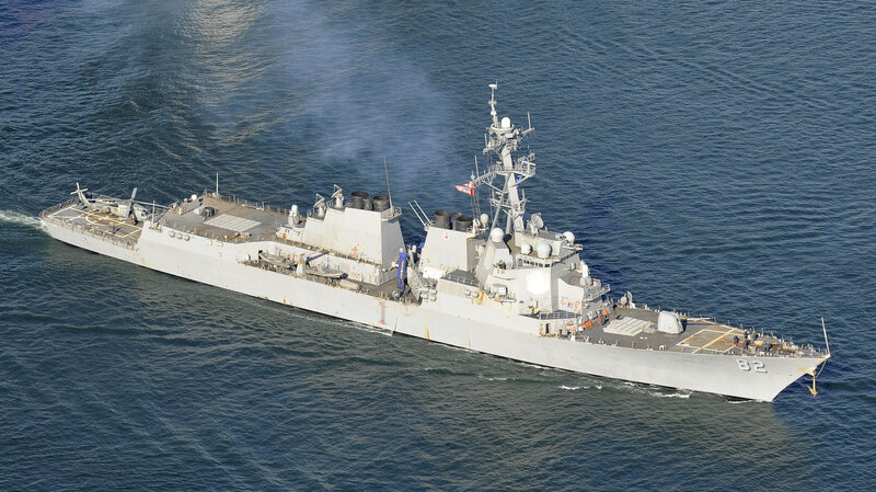 This February 2012 image shows the U.S. guided-missile destroyer Lassen. The U.S. Navy sent the warship within 12 nautical miles (about 22 kilometers) of islands artificially created by China in the South China Sea. (Kyodo /Landov)