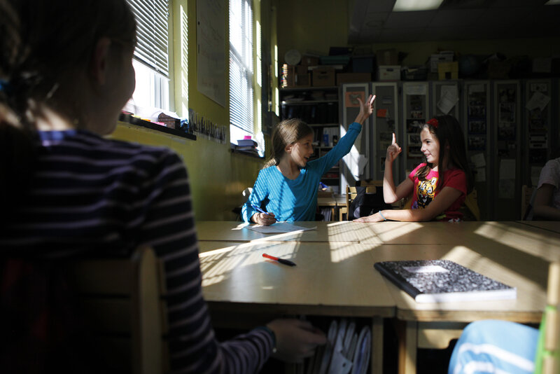 Teacher Cathy Carinder's classroom hosts fourth- and fifth-graders.