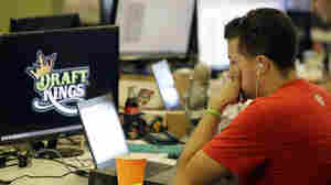 Devlin D'Zmura, a news manager at daily fantasy sports company DraftKings on Sept. 9. Customers of the two biggest daily fantasy sports websites — DraftKings and FanDuel — filed at least four lawsuits against the sites in October 2015. The customers accused the sites of cheating, and argued they wouldn't have played had they known employees with insider knowledge were playing on rival sites.