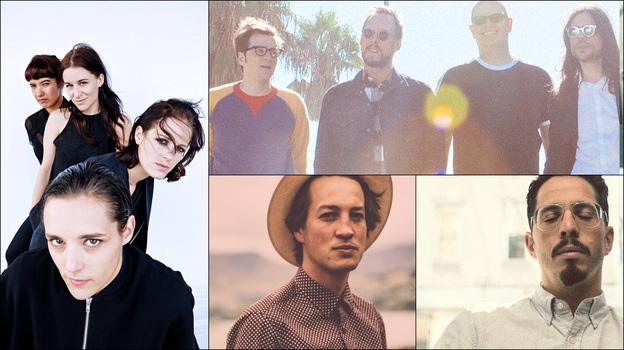 Clockwise from upper left: Weezer, J. Viewz, Savages, Marlon Williams (Courtesy of the artists)