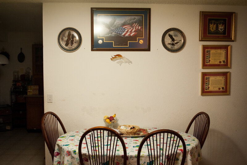 The dining room at the Vanni home.(Theo Stroomer for NPR)