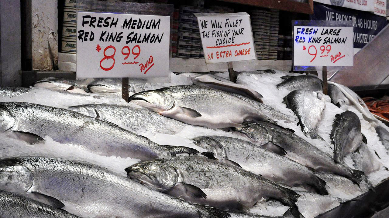 That salmon on the menu might be a fraud especially in for Pure food fish market