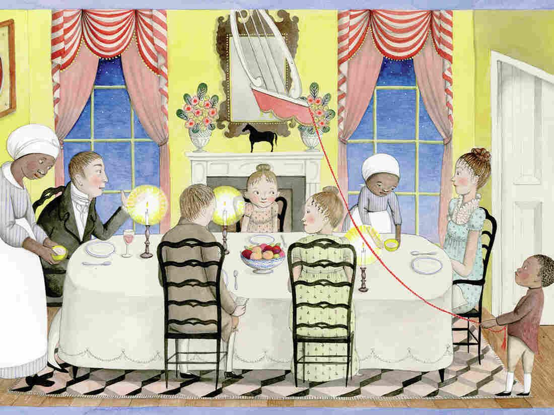 A Fine Dessert, Dinner Scene, illustrated by Sophie Blackall