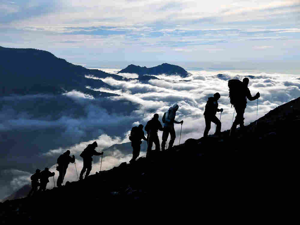 An Alpine Symphony, by Richard Strauss, depicts a dawn to dusk climb up a mountain.