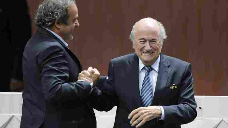 FIFA President Sepp Blatter (right), seen here with UEFA President Michel Platini after he was re-elected in May, says Platini's European federation has sought to undermine him.