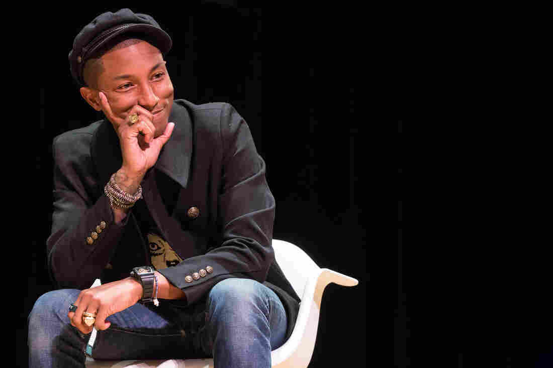Pharrell Williams at Town Hall in New York during an interview event presented on Oct. 26, 2015 by NYU Tisch School of the Arts and NPR Music.