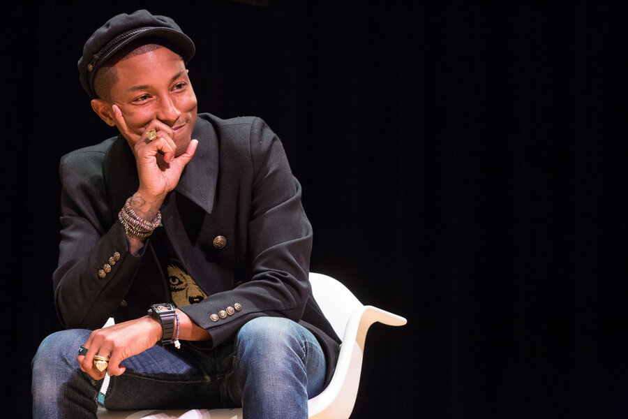 Pharrell Williams At Town Hall In New York During An Interview Event Presented On Oct