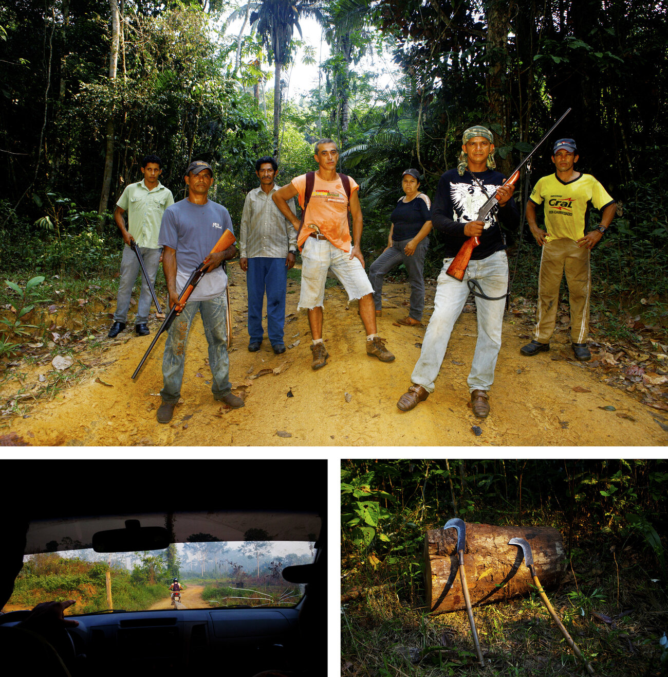 Elizeu Berçacola leads this group of rubber tappers who fight to prevent illegal logging.