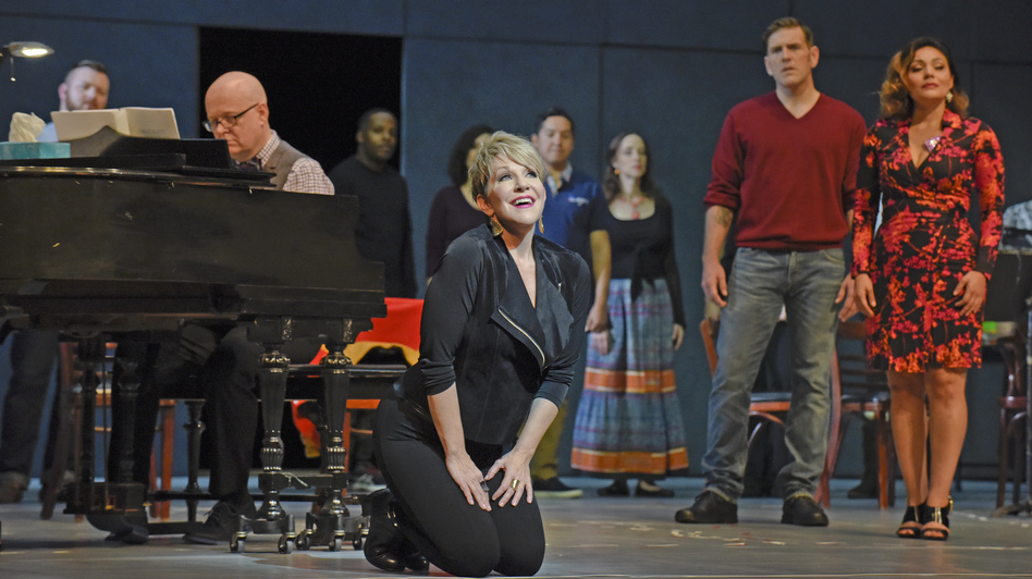 Joyce DiDonato stars in the new opera Great Scott as a world-famous diva who returns to her hometown and finds its opera company struggling to stay afloat. (Dallas Opera)