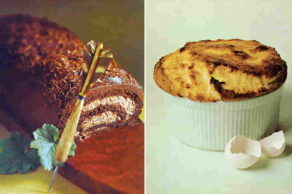 The Prices' cookbook included recipes for Whitehall Club Chocolate Roll and Soufflé au Grande Marnier, photographed by artist Tosh Matsumoto.