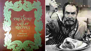 Famous horror film actor Vincent Price also co-wrote a best-selling cookbook in the 1960s with his then-wife, Mary. The original cover of the book, A Treasury Of Great Recipes, is seen at left. It's just been reissued.