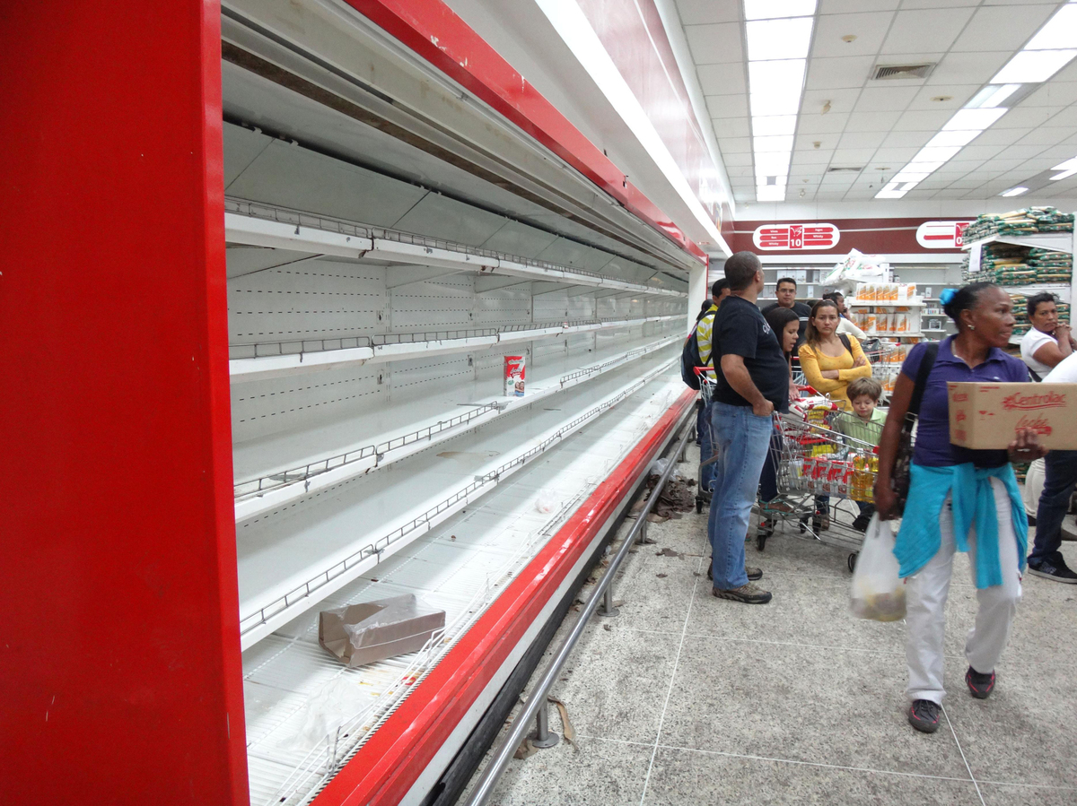 Empty Food Shops Venezuela