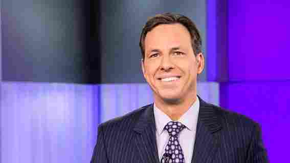 Jake Tapper on the set of CNN's The Lead.