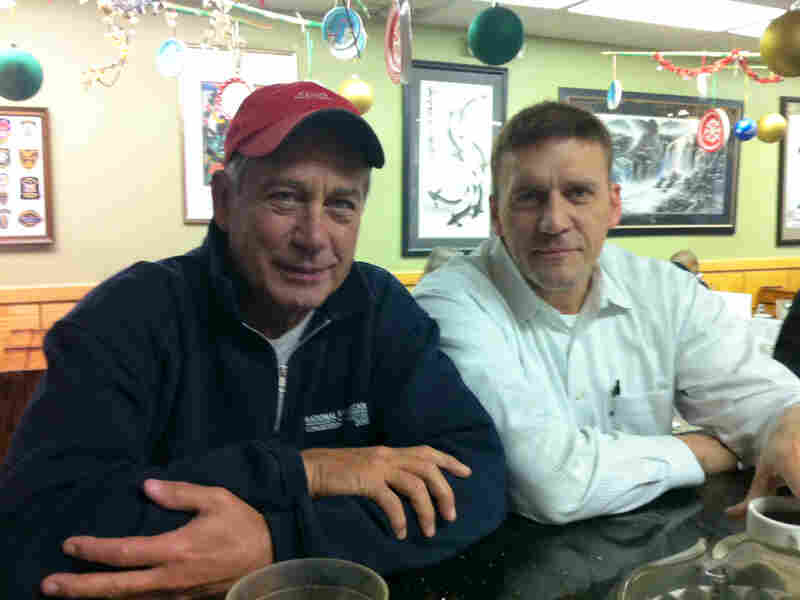 Rob Poirier sits next to John Boehner most days at Pete's Diner.
