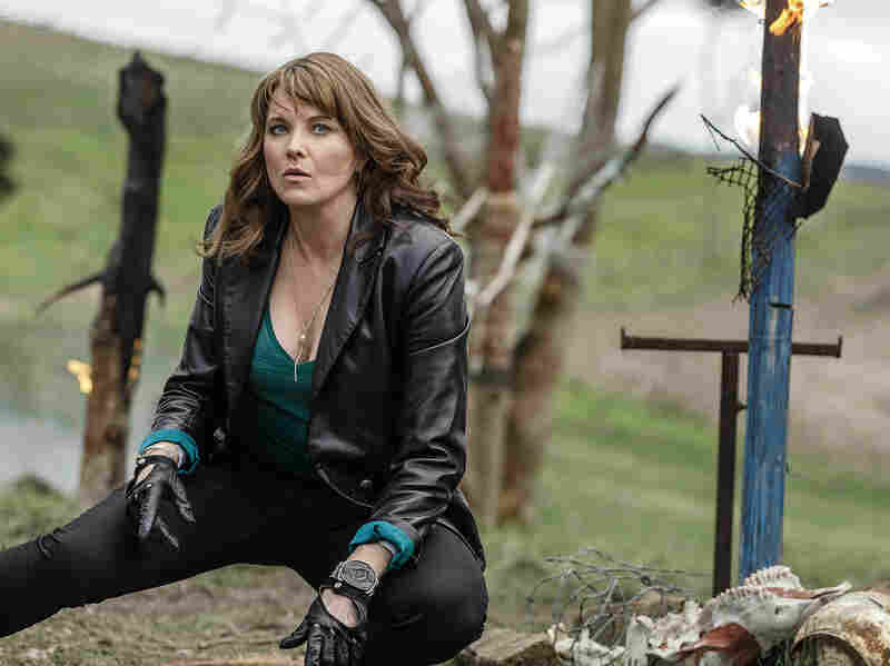 Former warrior princess Lucy Lawless stars as Ruby, who has a serious bone to pick with Campbell's Ash.