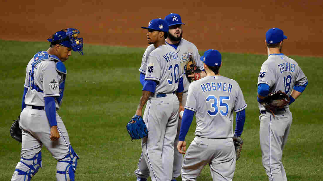 Yordano Ventura of the Kansas City Royals is pulled out of the game in the fourth inning Friday night against during Game Three of the World Series.