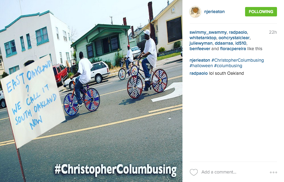Another #ChristopherColumbusing example.
