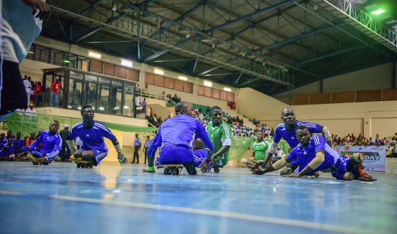 Polio survivors compete in a para-soccer tournament in Abuja, the capital of Nigeria. (Lemmy Ijioma/Courtesy of Rotary International)
