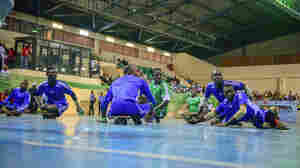 Polio survivors compete in a para-soccer tournament in Abuja, the capital of Nigeria.