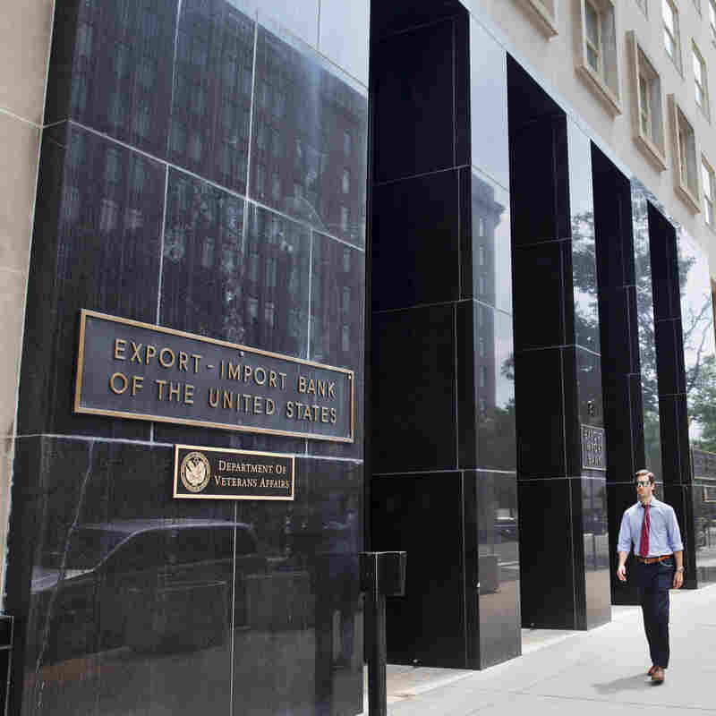 Outside the Export-Import Bank in July, after its charter was allowed to expire.