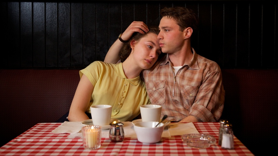 Saoirse Ronan as Eilis and Emory Cohen as Tony in <em>Brooklyn</em>. (Kerry Brown/Courtesy of Fox Searchlight)