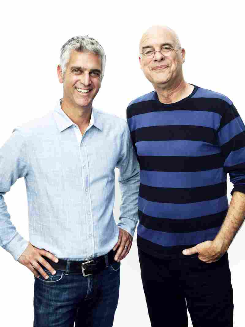 Former New York Times food writer Mark Bittman (right) with Andy Levitt, the founder and CEO of The Purple Carrot.