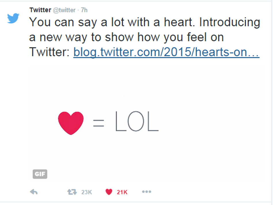 Why No Love For Twitters Hearts Wbur News