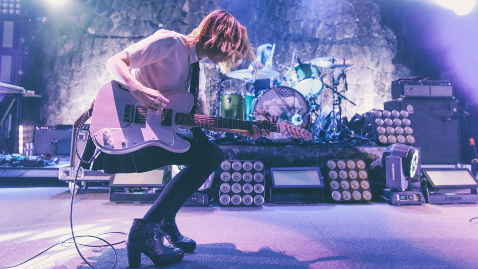 Guitarist, actor and writer Carrie Brownstein performing with her band Sleater-Kinney at the 9:30 Club in Washington, D.C. (NPR)