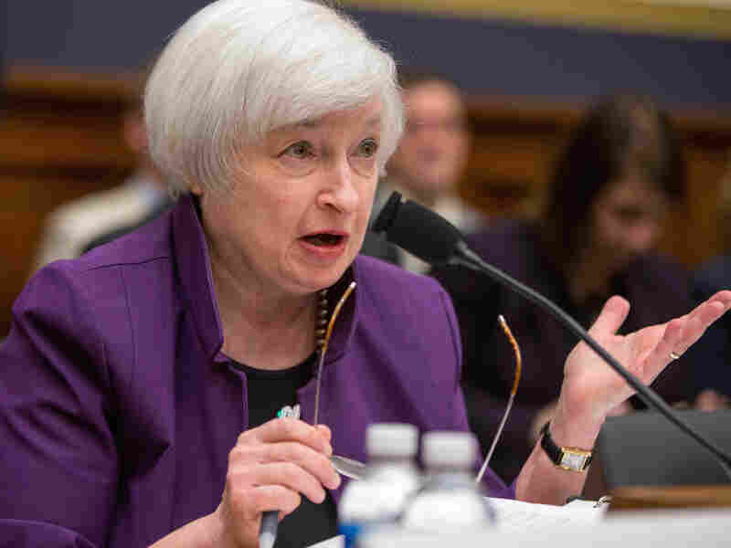 Fed Chair Janet Yellen testifies before the House Financial Services Committee, where she said an interest rate increase could still come in December.