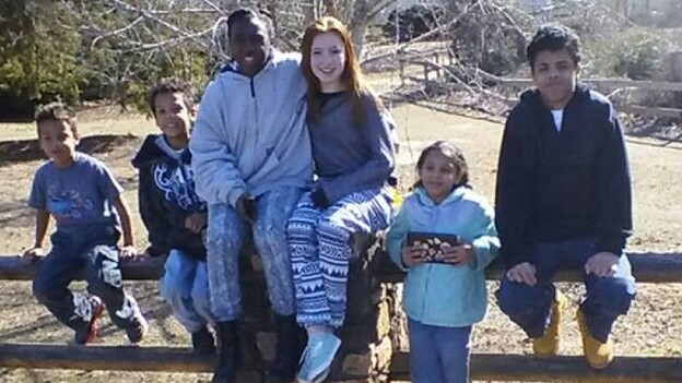 After Donald and Crystal Howard died in a car crash on Halloween, a Georgia state trooper took care of their four children, with help from residents and other police. (GoFundMe)