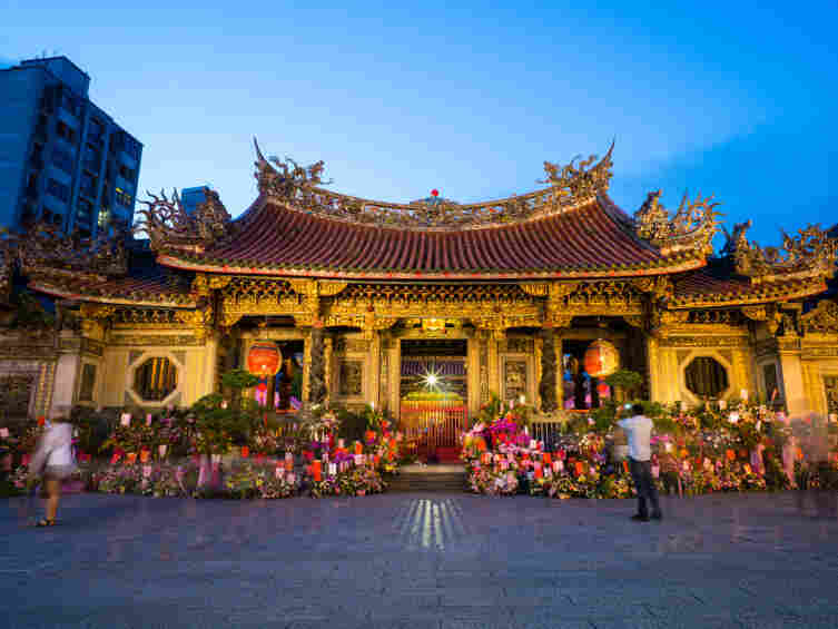 Longshan Temple in Taipei, Taiwan, is a place of worship for Buddhism and Chinese popular religion.