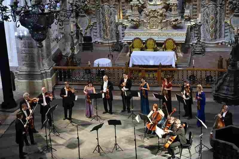 Argentina's Camerata Bariloche chamber ensemble performs at the Templo de La Valenciana.