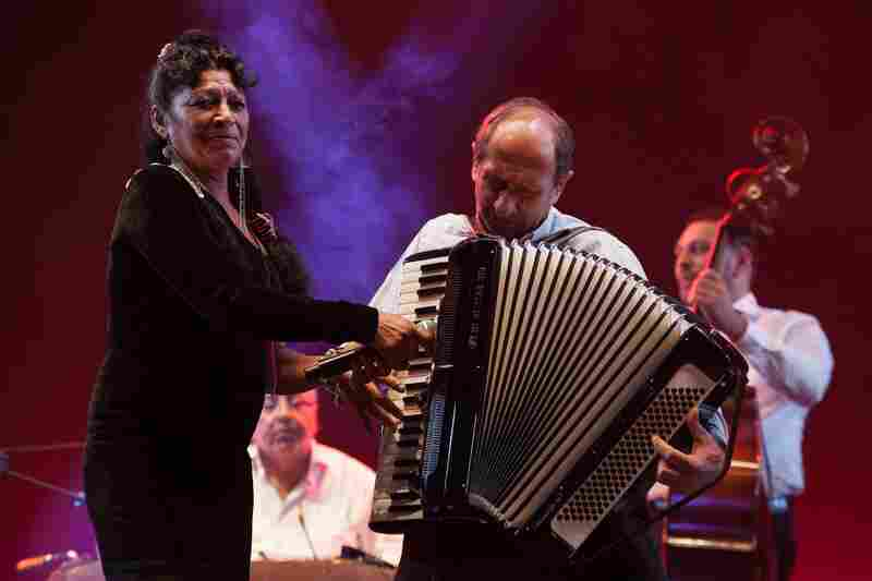 Taraf de Haidouks, a Romanian group that recently celebrated 25 years together, performs at the 2015 Festival Internacional Cervantino in Guanajuato, Mexico.