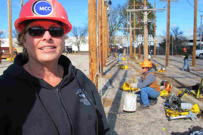 Susan Blaser is the coordinator at the Electric Utility Line Technician Program and a lineman in Kansas City, Mo. She was the first woman in the area to work as a line worker when she started in 1987.