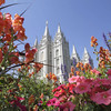 The Salt Lake Temple, at Temple Square, in Salt Lake City.