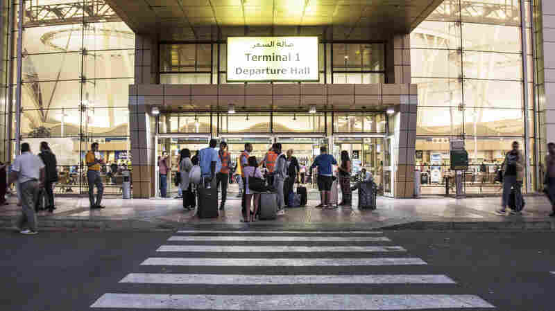 Tourists arrive at the departure hall of the Sharm el-Sheikh airport on Saturday.