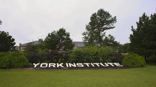 Outside the York Institute, a 600-student school in Jamestown, Tenn.