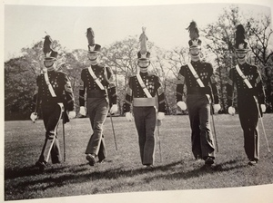 Trump (second from left) and classmates, seen in their 1964 New York Military Academy yearbook.