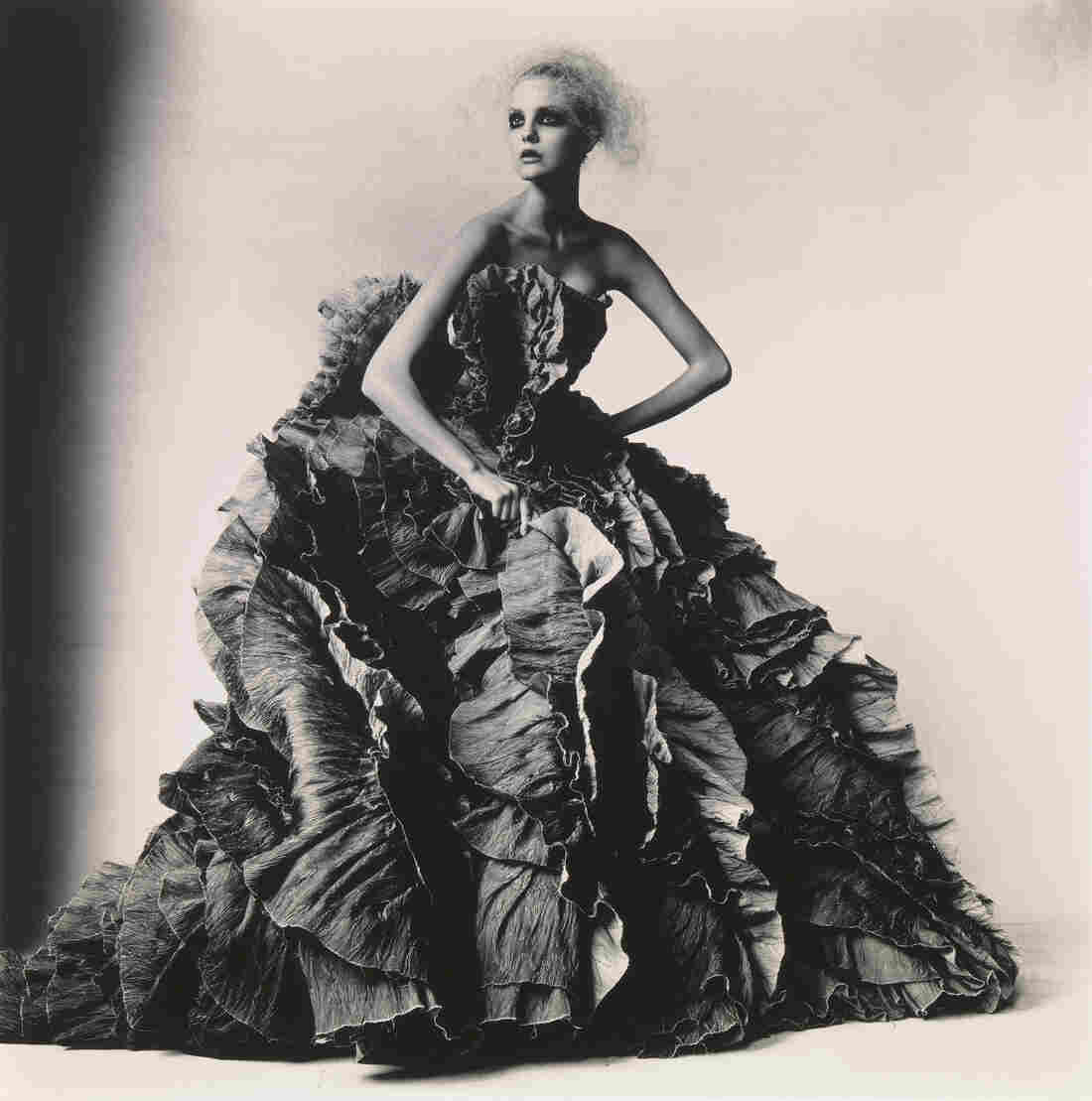 During his decades-spanning career Irving Penn photographed everything from fashion models to frozen food. Above, Ball Dress by Olivier Theyskens for Nina Ricci, New York, 2007.