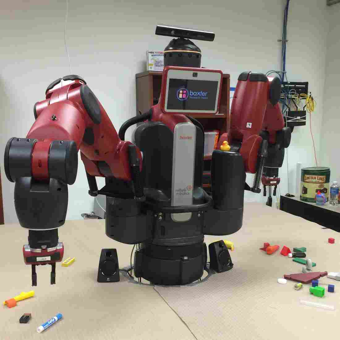 Researchers at Brown University's computer science department are studying whether a robot called Baxter can be taught to pick up different objects.
