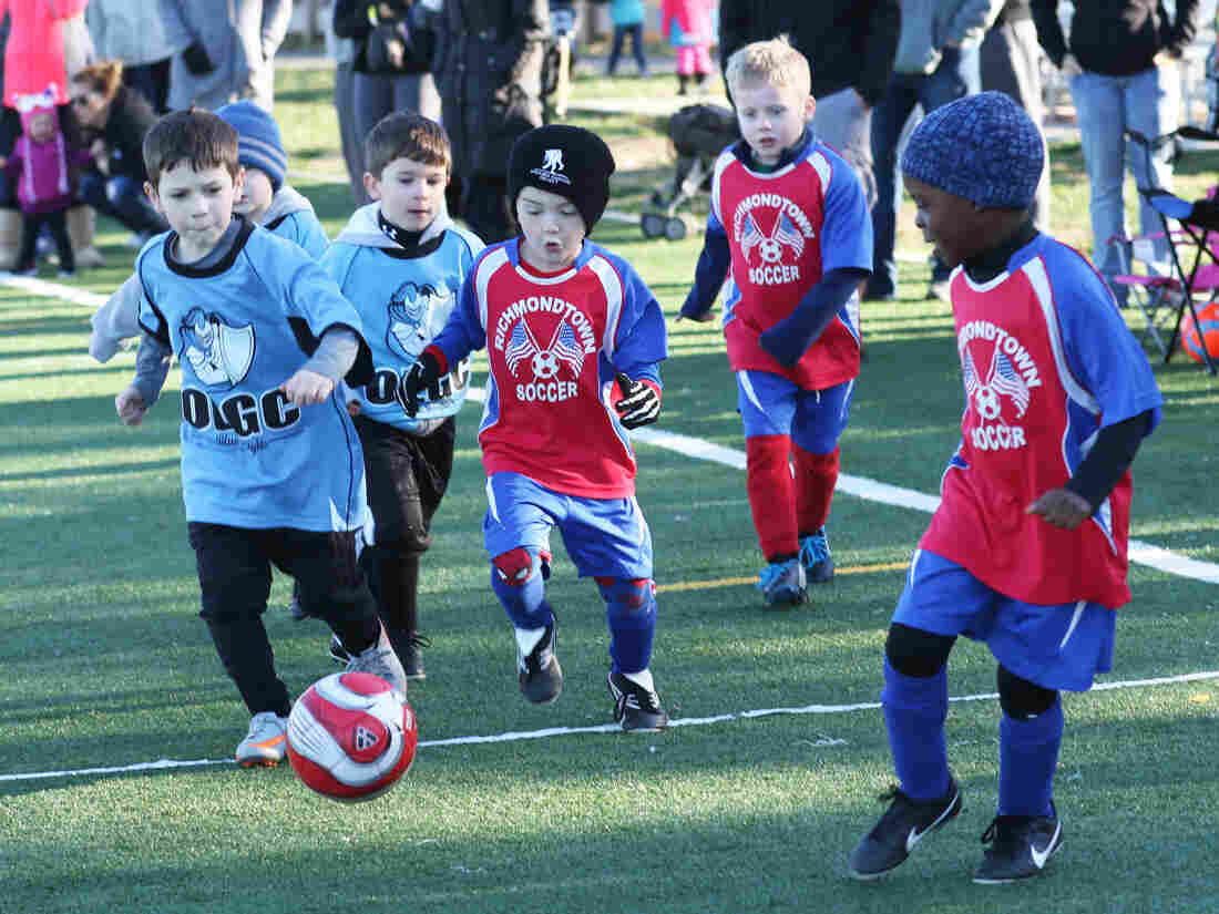 Children on Staten Island, N.Y., playing soccer. U.S. Soccer says it strongly urges all youth leagues around the country to follow the guidelines.