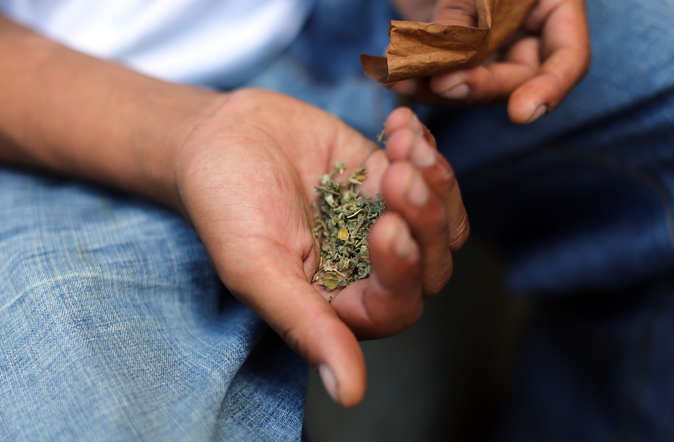 """The drug sold as K2, spike, spice or """"synthetic marijuana"""" may look like dried marijuana leaves. But it's really any of a combination of chemicals created in a lab that are then sprayed on dried plant material. (Spencer Platt/Getty Images)"""