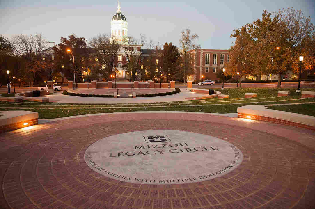 Mizzou Legacy Circle at the Mel Carnahan Quadrangle on the campus of University of Missouri in Columbia is seen Tuesday.