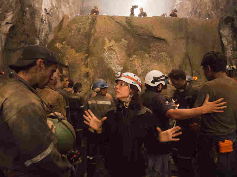 """Patricia Riggen filmed The 33 inside two Colombian mines. She says, """"We went to Colombia because their mines ... are not as deep and as dangerous as the Chilean mines."""""""