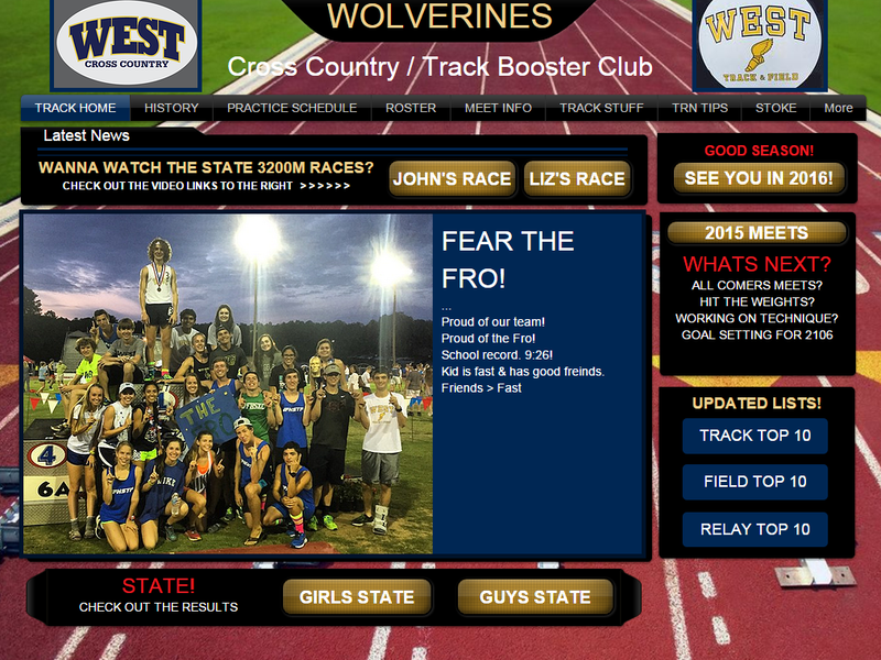 "The website of the West Forsyth High School track program with the words, ""fear the fro,"" to show support for senior runner John Green, who was disqualified for wearing a headband during the state championship meet."