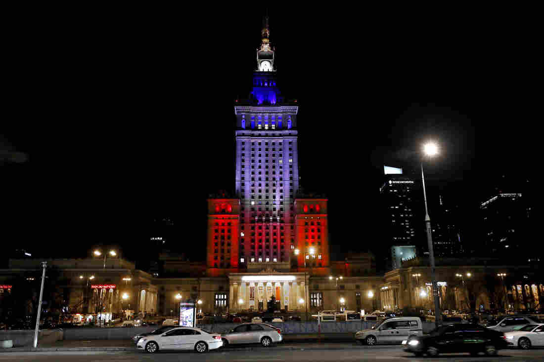 The Palace of Culture and Science in Warsaw, Poland.