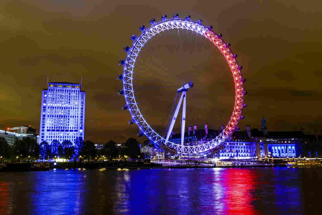 The London Eye in London, England.