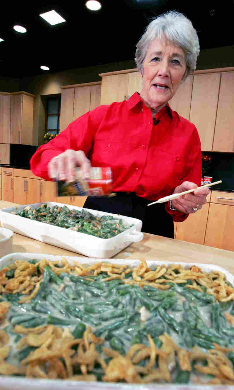 Dorcas Reilly, a now-retired home economist in the Campbell's Soup Co. test kitchen in New Jersey, created the iconic recipe for Green Bean Casserole in 1955. She's seen here at the Campbell's test kitchen in Camden, N.J., in 2005.